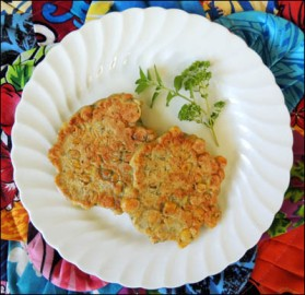 Corn fritters, ready to be eaten!