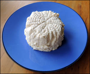 Freshly-made soy ricotta.