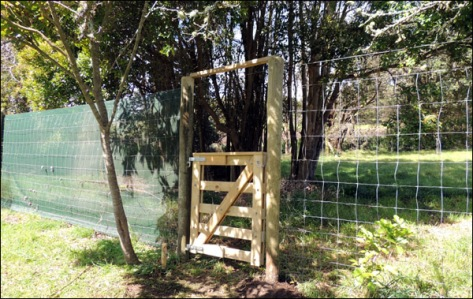 The new garden gate.