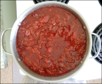 Second boiling of the sauce.