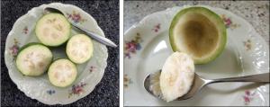 Exquisitely-delicate tasting Feijoa.