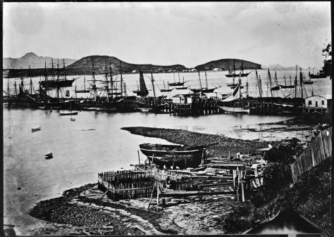 Auckland shorefront 1864